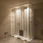 Custom Glass Wine Cellar Enclosure Stainless Steel Fittings Installation New Rochelle NY