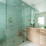 Modern Bathroom with Walk-In Frameless Shower Enclosure