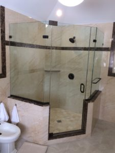 Neo Angle shower enclosure installation