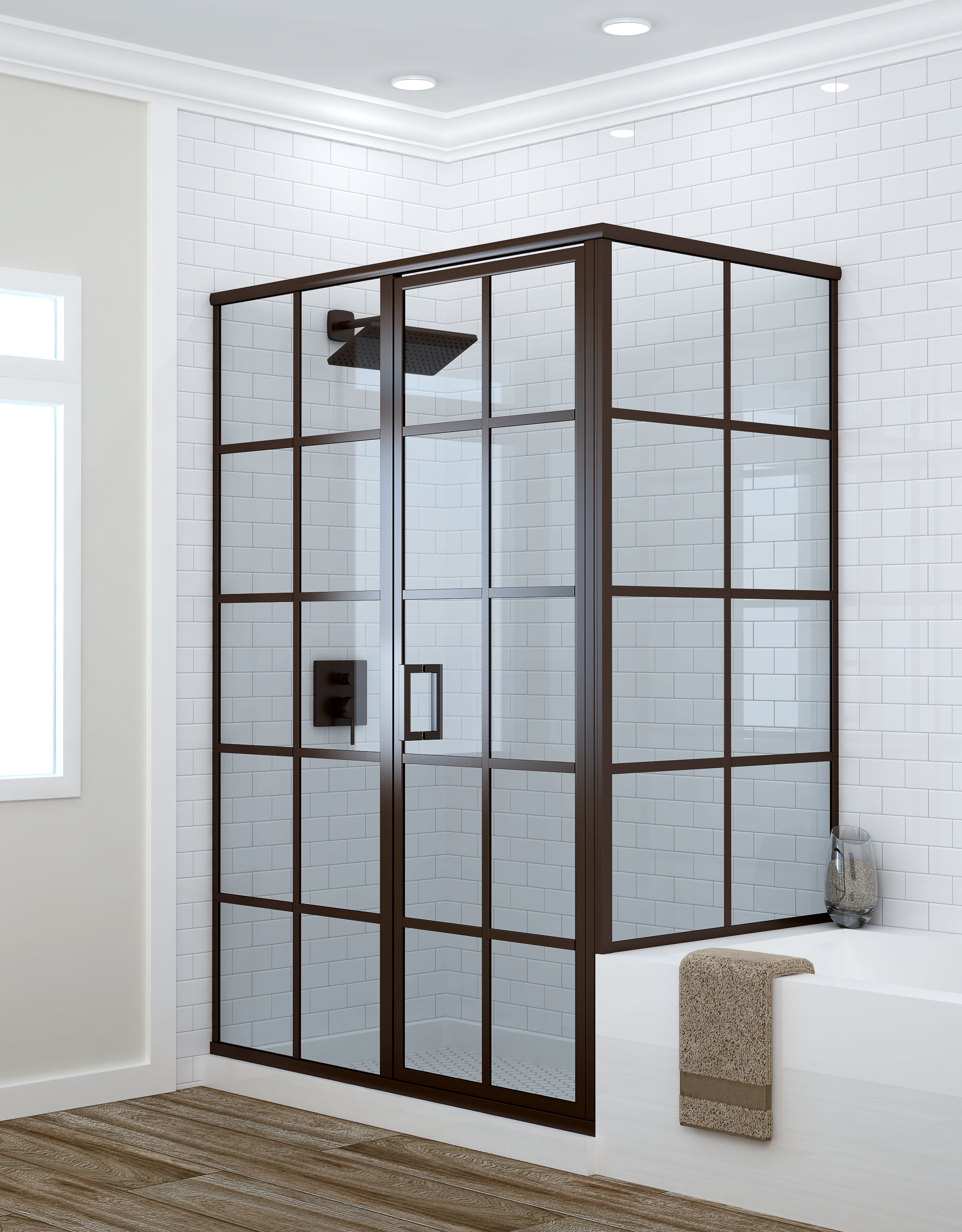 Metropolis Series Stall Shower Enclosure