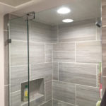 Small Bathroom Frameless Shower Enclosure Installation Wayne NJ